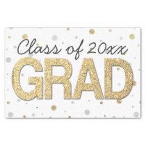 Gold Foil Glitter Confetti Graduation Party Custom Tissue Paper