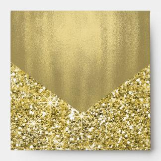 Gold Foil Glitter Envelope