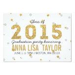 """Gold Foil Glitter Graduation Party Invitation 5"""" X 7"""" Invitation Card"""