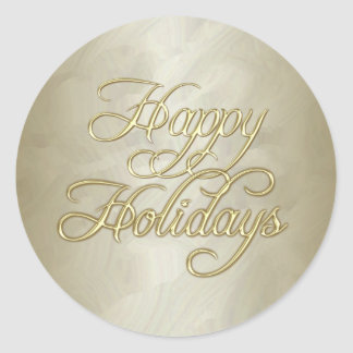 Gold Foil Happy Holidays Envelope Sticker
