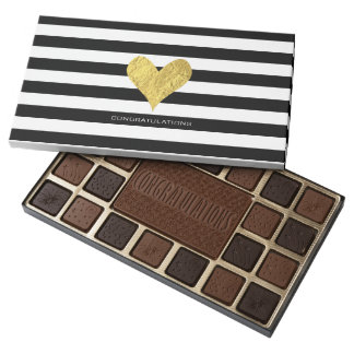 Gold Foil Heart Assorted Chocolates