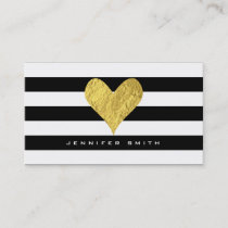 Gold Foil Heart Business Card