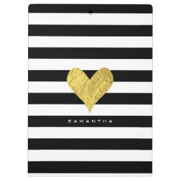 Gold Foil Heart Clipboard