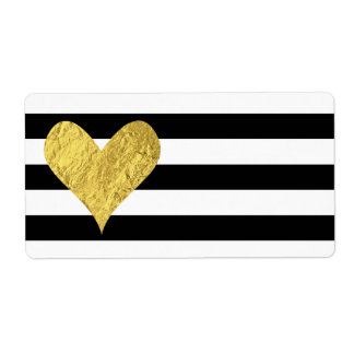 Gold Foil Heart Label