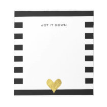 Gold Foil Heart Notepad