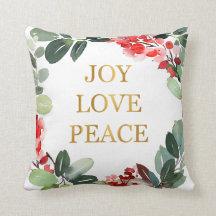 Gold Foil Love Decorative Throw Pillows Zazzle