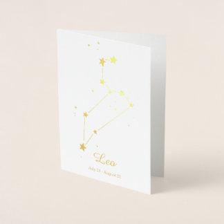 Gold Foil LEO Zodiac Sign Constellation Foil Card