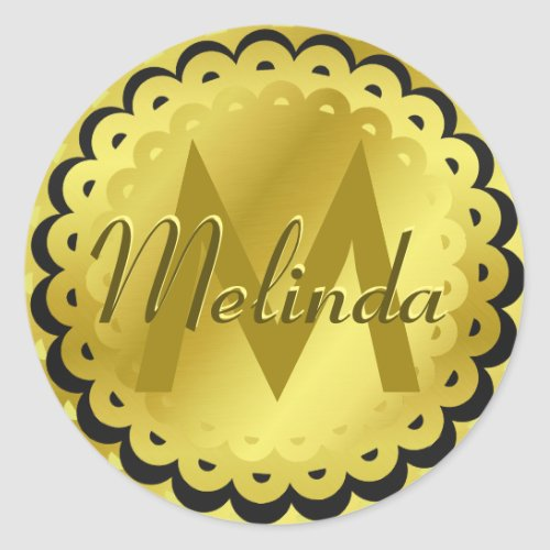 Gold Foil Look Monogram Seal