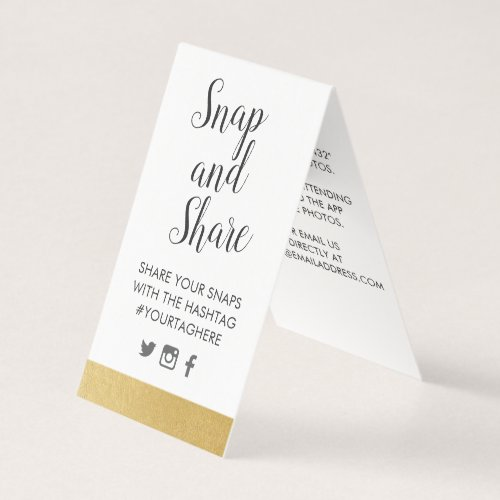 Gold Foil Look Party Wedding Hashtag Sign