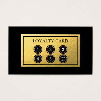 Gold Foil Loyalty Card