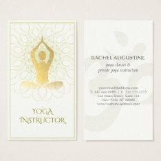 Gold Foil Mandala Floral Yoga Meditation Om Symbol Business Card at Zazzle