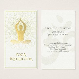Gold Foil Mandala Floral Yoga Meditation Om Symbol Business Card