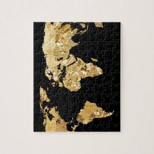 Gold foil jigsaw puzzles zazzle gold foil map jigsaw puzzle gumiabroncs Gallery
