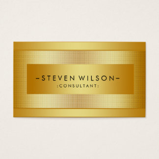 Gold Foil Metal Professional Modern Elegant Black Business Card