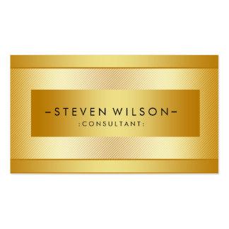 Gold Foil Metal Professional Modern Elegant Black Double-Sided Standard Business Cards (Pack Of 100)