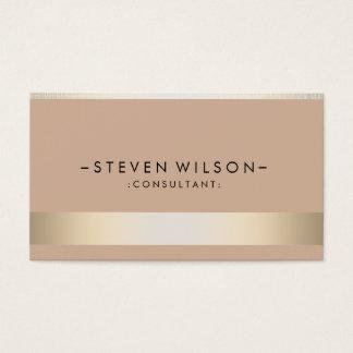 Gold Foil Metal Professional Modern Elegant Business Card