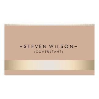 Gold Foil Metal Professional Modern Elegant Double-Sided Standard Business Cards (Pack Of 100)