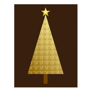 Modern christmas tree postcards zazzle for Modern gold christmas tree