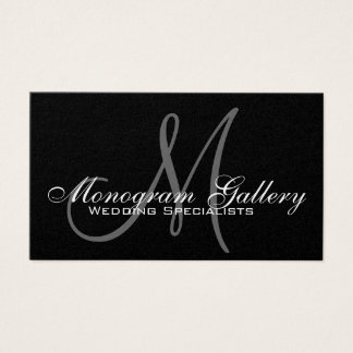 Gold Foil Monogram Customizable Business Card
