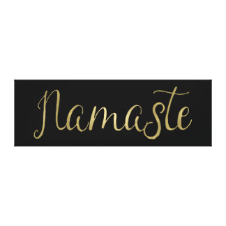 Gold Foil Namaste Canvas Print