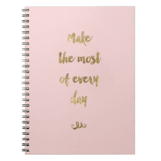 Gold Foil Notebook with brush lettering