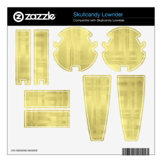 Gold Foil Paper Duo-tone Plaid Pattern Decals For Skullcandy