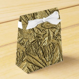 Gold Foil Party Favor Boxes