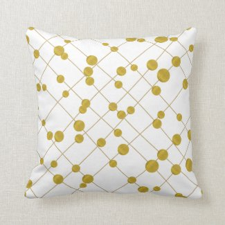 Gold foil pattern modern and trendy pillow