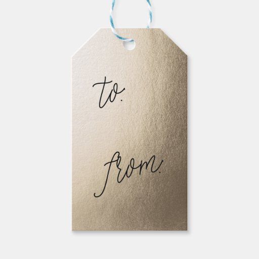 GOLD FOIL present gift tags Pack Of Gift Tags