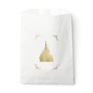 Wedding Themed Gold Foil Princess Flag Castle Storybook Party Favor Bag