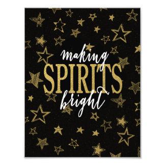 GOLD FOIL PRINT | MAKING SPIRITS BRIGHT STARS PHOTO PRINT