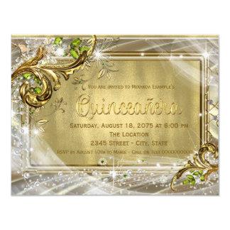 Gold Foil Quinceañera Card