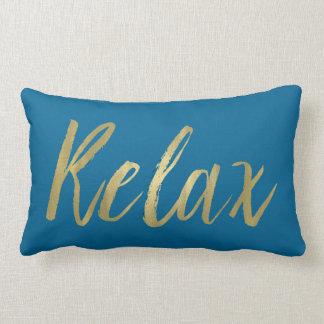 Gold Foil Relax Lumbar Pillow
