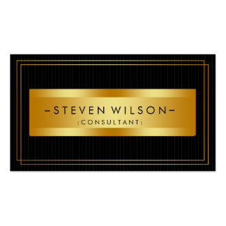 Gold Foil Retro Elegant Financial Services Double-Sided Standard Business Cards (Pack Of 100)