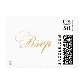Gold foil RSVP Postage
