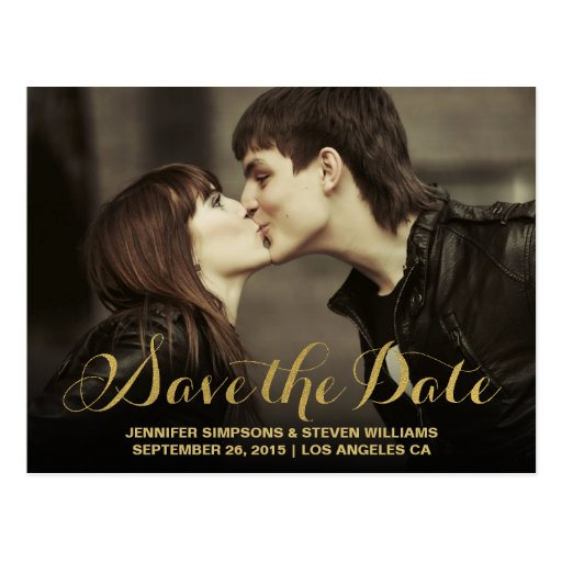 GOLD FOIL SAVE THE DATE...
