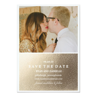 GOLD FOIL SAVE THE DATE Save the Date Announcement
