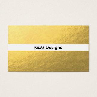 Gold Foil Simple Business Cards