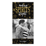 GOLD FOIL | SPIRITS BRIGHT HOLIDAY PHOTO CARD