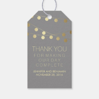 Gold Foil String Lights Elegant Wedding Gift Tags