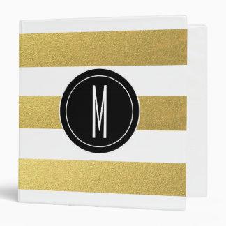 GOLD FOIL STRIPES | BLACK MONOGRAM BINDER
