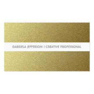 Gold Foil Stripes Modern and Elegant Business Card