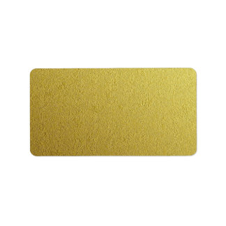 Gold Foil Textured Template Label