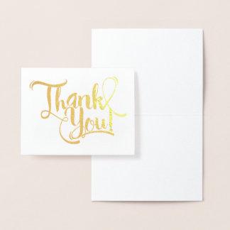 Gold Foil Thank You Foil Card