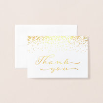 Gold Foil Thank You Notecard Foil Card