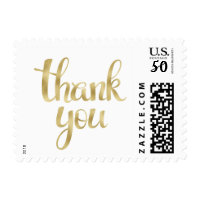 Gold foil thank you stamps