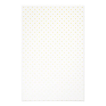 Gold Foil Tiny Polkadot Pattern Stationery