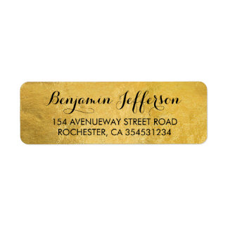 Gold Foil Wedding Label