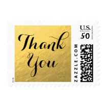 Gold Foil | Wedding Thank You Stamp