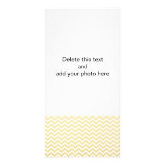 Gold Foil White Chevron Pattern Photo Card